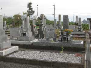 現地にて、墓地の現状を確認します。